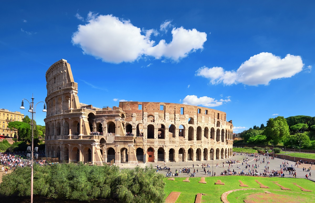 The Colosseum or Coliseum, also known as the Flavian Amphitheatr